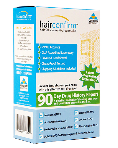Hair Confirm Drug Test - home kit - Click Image to Close