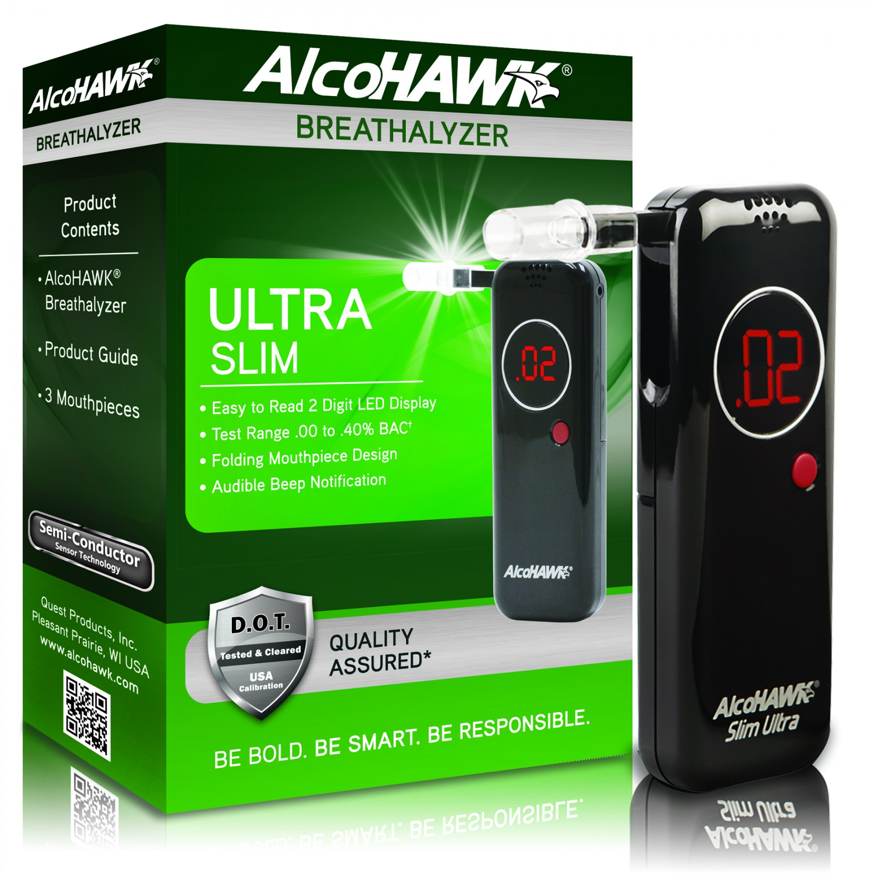 AlcoHAWK Ultra Slim Breathalyzer